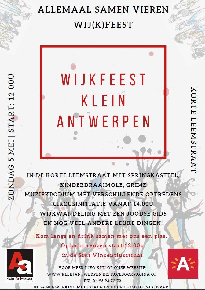 Wijkfeest Klein Antwerpen 2019